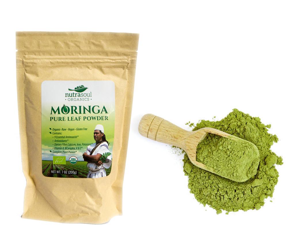 Moringa organic pure leaf powder